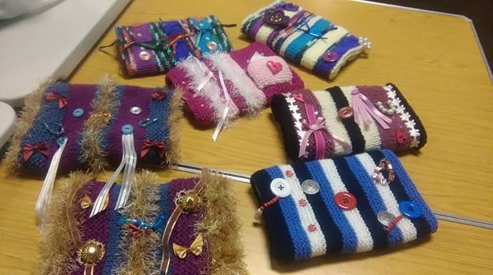 Twiddle Muffs made for Alzheimer patients